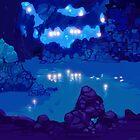 Wyndia: Plummet Caverns Location Painting by Curtis Bathurst