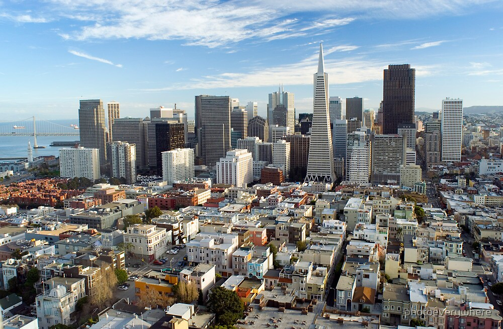 san francisco downtown district by photoeverywhere