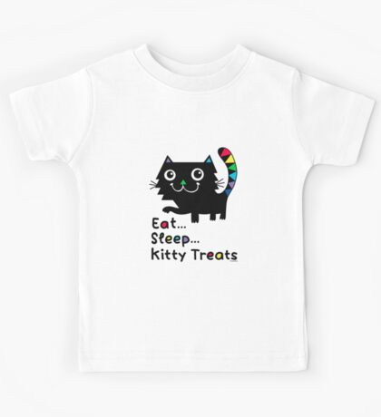 Eat, Sleep, Kitty Treats  Kids Clothes