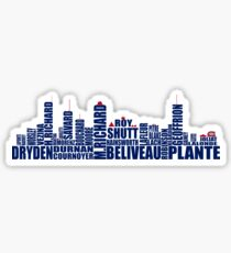 Montreal Skyline - Canadiens Greats Sticker