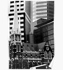 Albert St Uniting Church (B&W) Poster