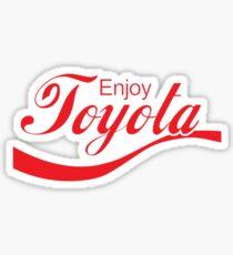 Enjoy Toyota JDM Shirt Sticker