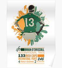 Brian O'Driscoll   Career Milestones Poster