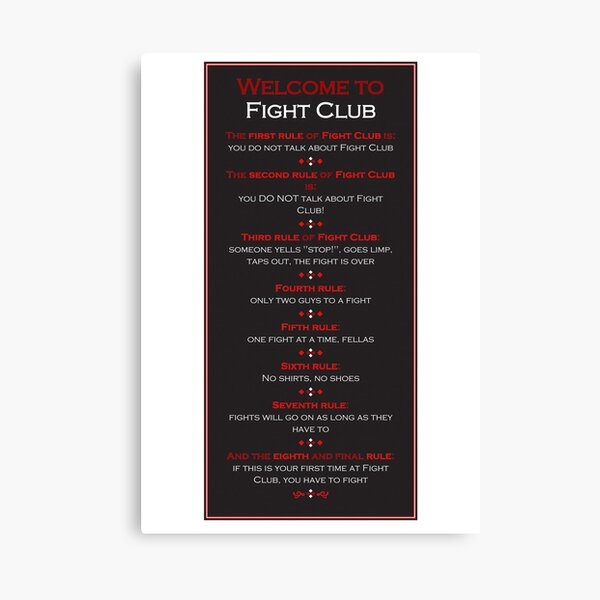 FIGHT CLUB INSPIRIEREND MOTIVATIONS ZITAT POSTER DRUCK BILD 1