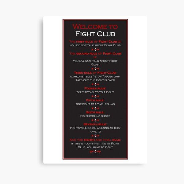 FIGHT CLUB INSPIRIEREND MOTIVATIONS ZITAT POSTER DRUCK BILD 1