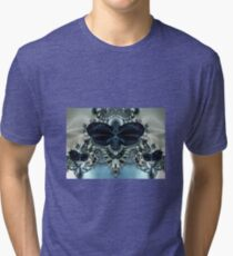 Blue Butterfly Lace II Tri-blend T-Shirt