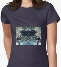 Blue Butterfly Lace II Womens Fitted T-Shirt