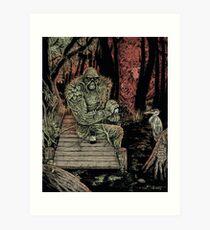 Swamp Watcher Art Print