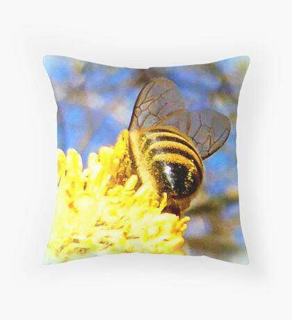Pure Rich Honey Throw Pillow