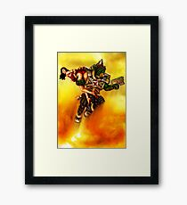 Rocket Powered Orc Raider Framed Print