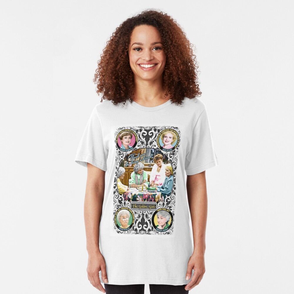 Golden Girls. Blanche, Rose, Dorothy and Sophia. Slim Fit T-Shirt