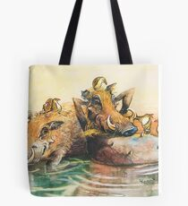 Happy in the water Tote Bag
