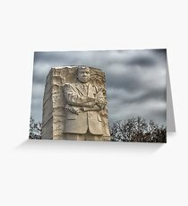 MLK Memorial after snowstorm Greeting Card