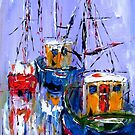 BOATS BY THE QUAYSIDE by artistpixi