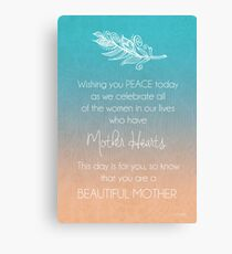 Beautiful Mother Canvas Print
