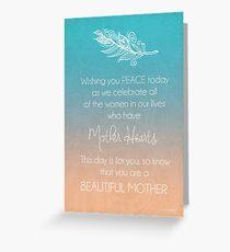 Tarjeta de felicitación Madre hermosa