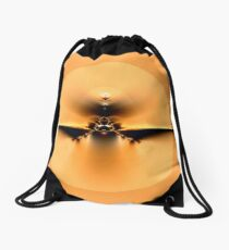 Fly to the Sun on Golden Wing Drawstring Bag
