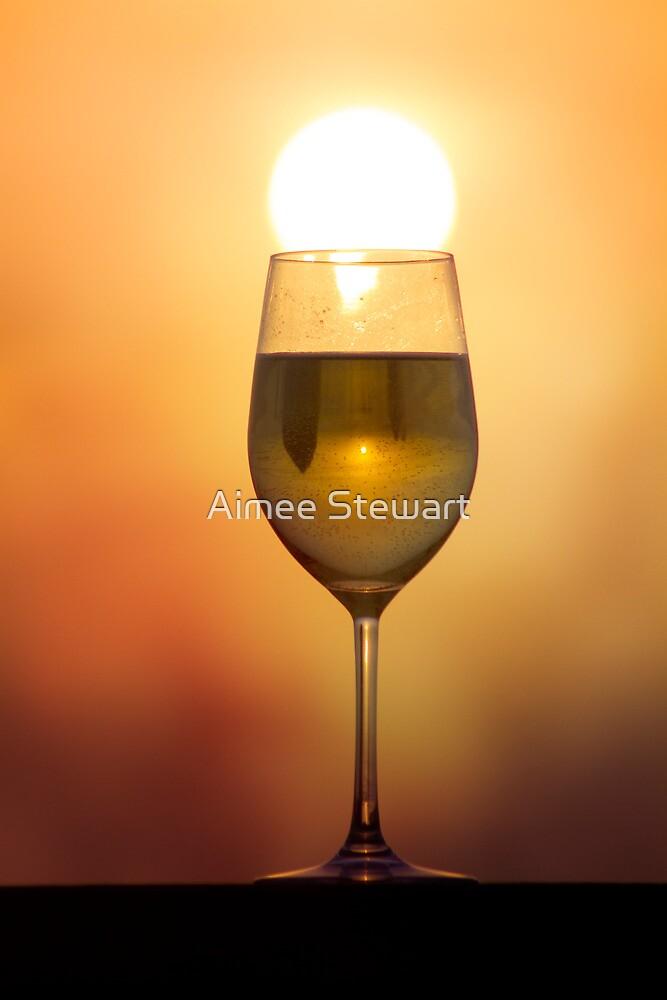 A sunset in my wine... by Aimee Stewart