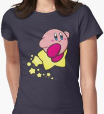Ride on Kirby Women's Fitted T-Shirt