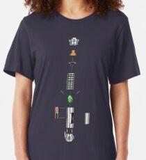 Lightsaber Cross-section Slim Fit T-Shirt