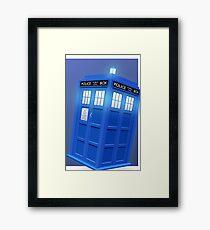 Doctor Who TARDIS Phone Case Framed Print