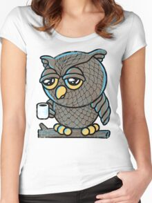 Owl I Want is a Cup of Coffee Women's Fitted Scoop T-Shirt