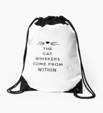 Dan and Phil Signatures - The Cat Whiskers Come From Within Drawstring Bag