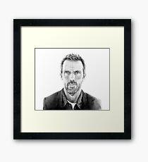 Portrait of James Hugh laurie, pencil Framed Print