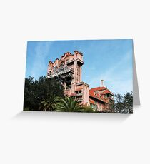 hollywood studios - i - hollywood tower hotel Greeting Card