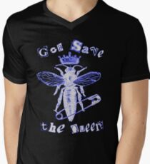 God Save The Queen BW Men's V-Neck T-Shirt