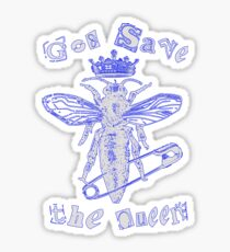 God Save The Queen BW Sticker