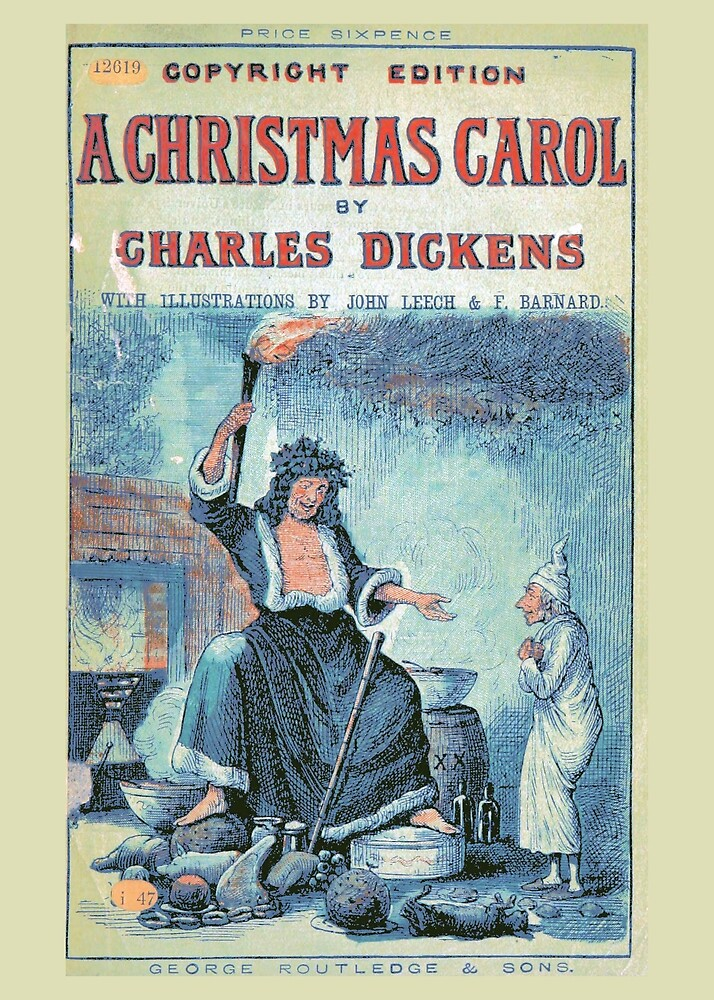 """Vintage Cover of """"A Christmas Carol"""" by Charles Dickens"""" (1886) by Douglas E.  Welch"""