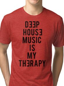 Deep House Music is My Therapy Tri-blend T-Shirt
