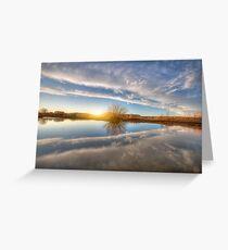 Between Clouds Greeting Card