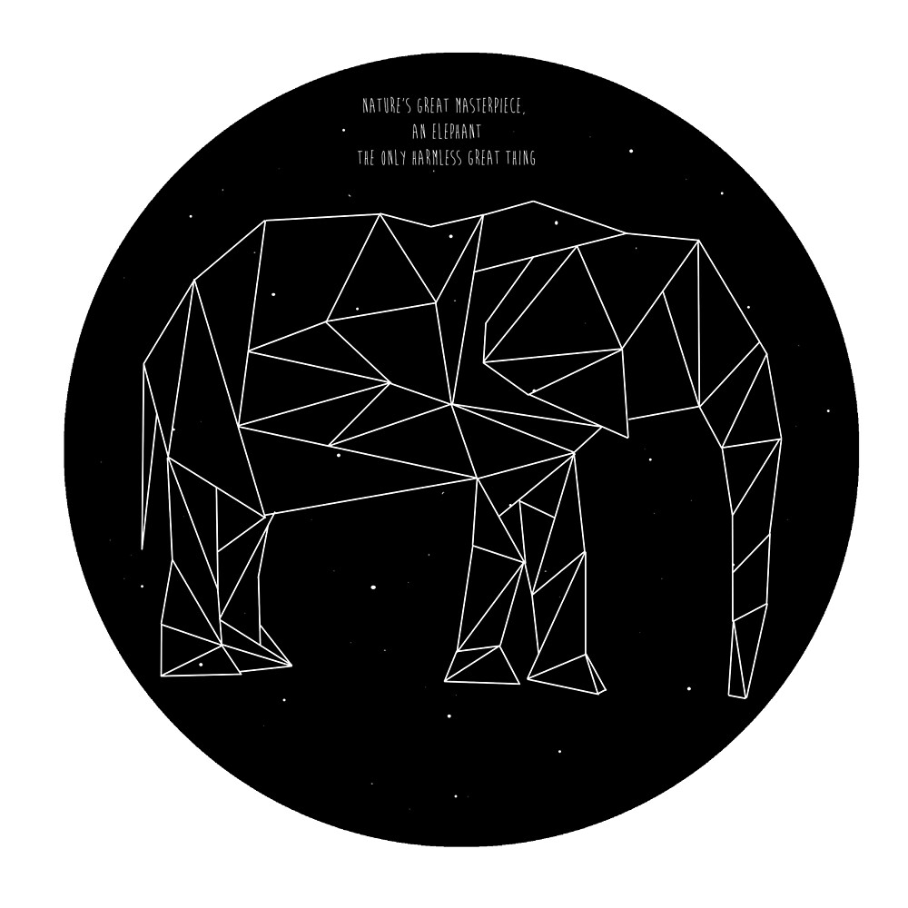 Geometric Elephant by tophatmonster94