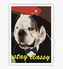 Stay classy with a tux Sticker
