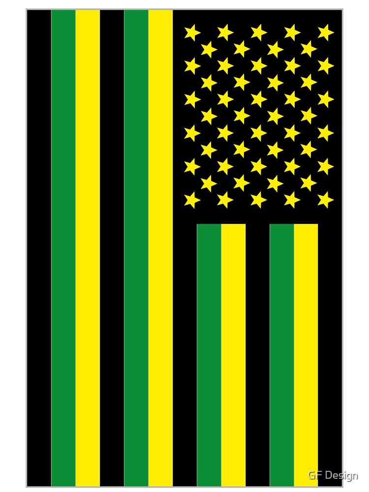 US Flag Jamaica by GF Design