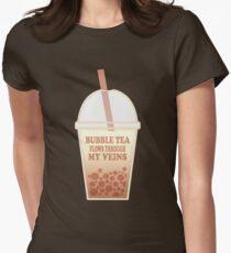 Bubble Tea Veins Women's Fitted T-Shirt