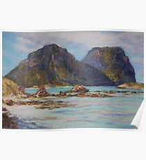 Lord Howe Island - morning view of the mountains Poster