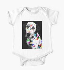 Multi-coloured Dalmatian One Piece - Short Sleeve