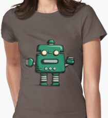 Retro robot – old green T-Shirt