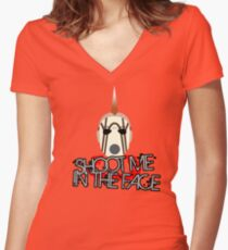 Face McShooty- Borderlands 2 (Simplified Face&Quote) Women's Fitted V-Neck T-Shirt