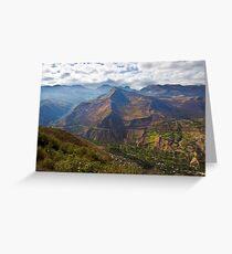 Traveling to Banos-Ambato, Ecuador Greeting Card