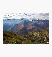 Traveling to Banos-Ambato, Ecuador Photographic Print