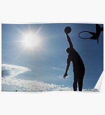 Basketball Silhouette Slam Dunk Poster