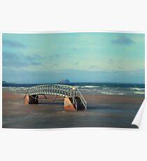 Bridge to Nowhere, Belhaven Bay, East Lothian Poster