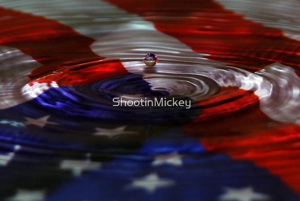 American Flag Water Art  by ShootinMickey