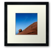 Waiting for Sisyphus Framed Print