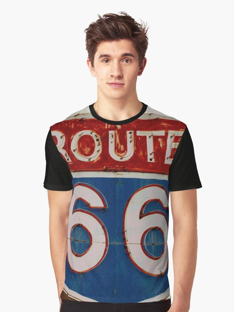 ROUTE 66 Graphic T-Shirt Front