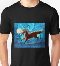 Fantasy Red Kitsune Fox Illustration T-Shirt